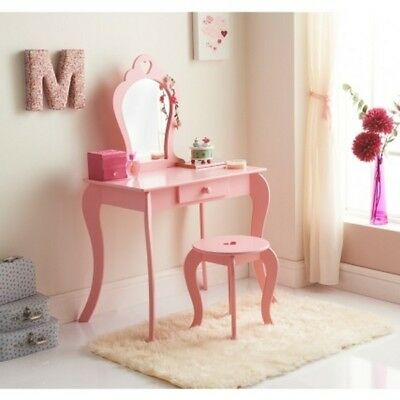 New Stylish Design Amelia Vanity Set with Stool & Mirror For Children's Bedrooms