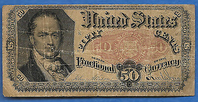 FR # 1381  US Fractional Currency 50 Cents  CRAWFORD LOOKS LIKE BOB HOPE