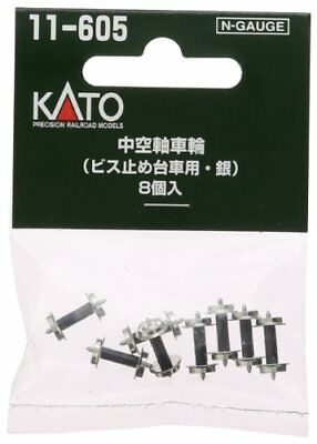 KATO N gauge hollow shaft wheel screwing truck for silver 8 pieces 11-605 F/S K