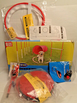 Dog Agility Kit Pet Outdoor Exercise Training (READ) NEW OTHER MISSING PIECES
