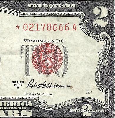 1953A $2 RED Seal *STAR* Legal Tender ~UNITED STATES NOTE~ Old US Paper Money!