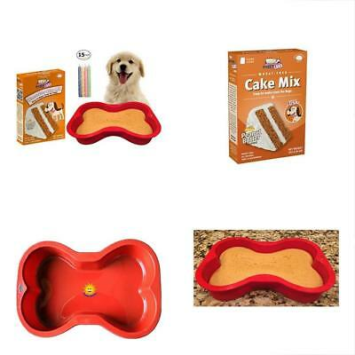 Dog Birthday Cake Kit Puppy Wheat Free Peanut Butter Mix And Frosting Silicone