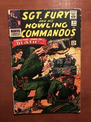 Sgt. Fury An His Howling Commandos #31 (1966) 5.0 VG Key Issue Silver Age Marvel