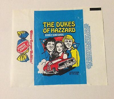 Dukes of Hazzard Series1 - 1x Wax Pack Card Wrapper - Donruss 1981 - NO TEARS !!
