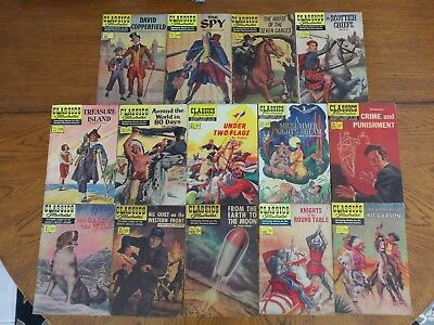 Classics Illustrated - 14 Titles - Some Scarce HRN's