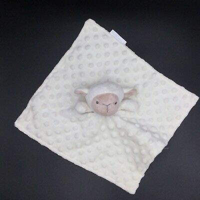 Elegant Baby Lamb Sheep Security Baby Blanket Ivory Cream Minky Lovey
