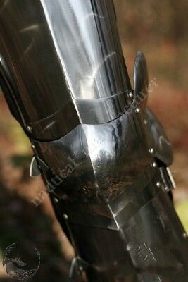 Vintage Collectible Medieval Full gothic Leg Armor Set Knight Crusader Steel Rep