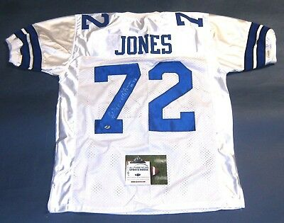 Ed Too Tall Jones Autographed Dallas Cowboys Jersey Aash