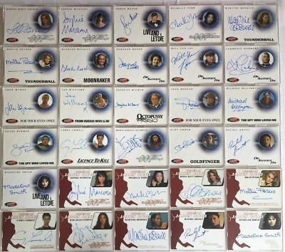 James Bond The Quotable James Bond Autograph Card Set 30 Cards