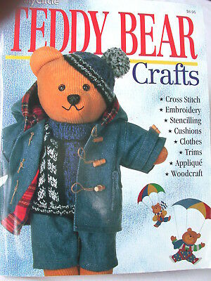 TEDDY BEAR CRAFTS  clothes knitting chairs stencils  lamp stand,  hats bags bib
