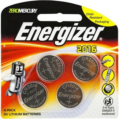 Energizer 2016 / CR2016 3V Lithium Batteries 4 Pack