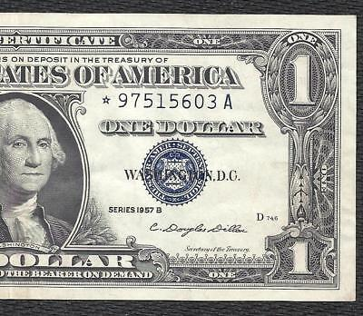 "1957B $1 SILVER Certificate! (( RARE *STAR* ""A"" )) CRISP VF! Old US Paper Money!"