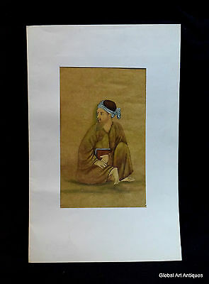 Rare Hand Painted Fine Decorative Collectible Indian Miniature Painting. G77-17