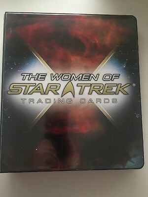 Women of Star Trek - card binder + base set + binder exclusive promo card
