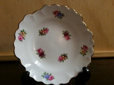 "Royal Adderley ""Floral"" Pin Dish: Made in England"