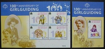 ST. VINCENT 2010 Pfadfinder Scouts Girl Guiding 6790-93 + Bl.698 ** MNH