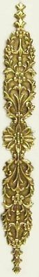 Lovely Delicate Etched Oxidised Brass Bookmark Floral Art Nouveau Style USA