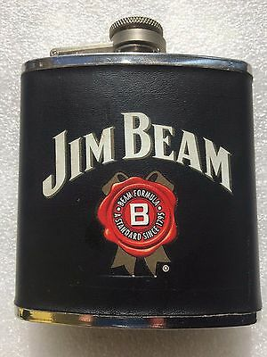Collectable Jim Beam 6 oz Stainless Steel Hip Flask