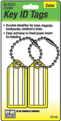 Key I.D. Tag, Ball Chain, 2-Pk. - Pack of 5
