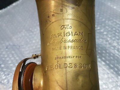 60's OLDS THE PARISIAN AMBASSADOR ALT / ALTO SAX / SAXOPHONE - made in FRANCE