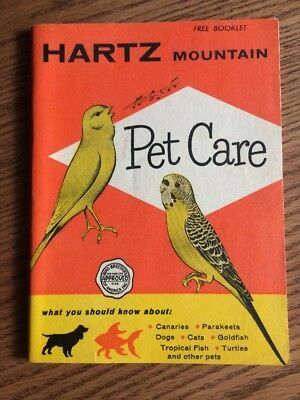 Vintage 1950's Hartz Mountain Pet Care Booklet 43 Page Informational Pamphlet
