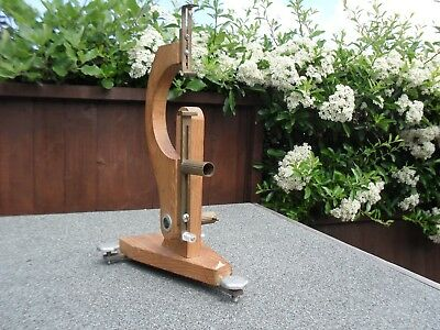 Vintage Clock Movement Holder Clock Makers Tool Adjustable Stand & Feet HOROLOGY