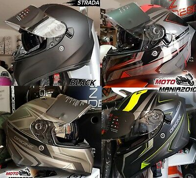 Casco Moto Integrale Origine Strada Graviter V128 Red ,yellow ,grigio,nero