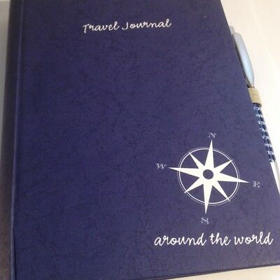 Travel Journal with Pen,Hardcover,Spiral Binding