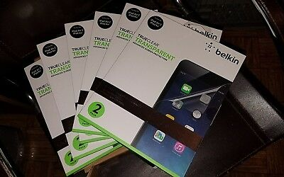Lot of 6 boxes Trueclear SCREEN PROTECTOR by belkin ipad & ipad air 12 in all