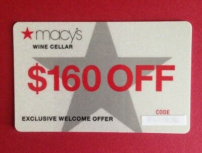 Macy's Wine Cellar Gift Card- $160 Off ......FREE SHIPPING