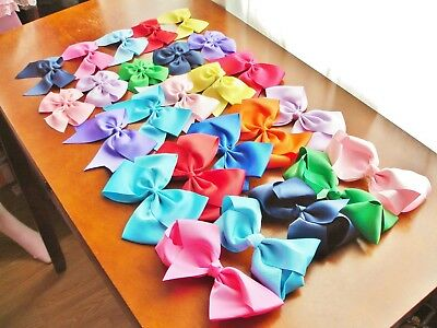 Decora Lolita Grosgrain Ribbon Alligator Clip Hair Bow 29 Colors 5 Styles NWOT