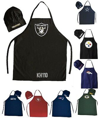 839e20cca05 NFL FOOTBALL TEAM Barbecue Tailgating Apron And Chef s Hat -  19.99 ...