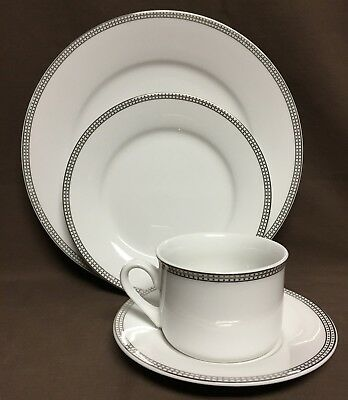 60 pieces COMPTON FINE CHINA Classic Dot Pattern Dinnerware Plates Bowls Cups