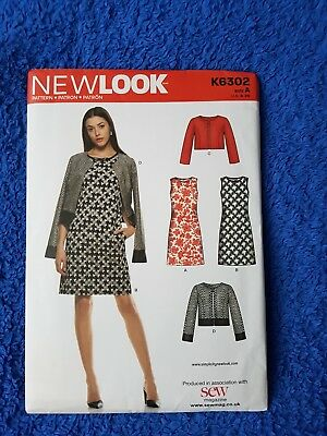 NEW LOOK SEWING Pattern, Dress And Jacket, New, Size UK 10-22 K6302 ...