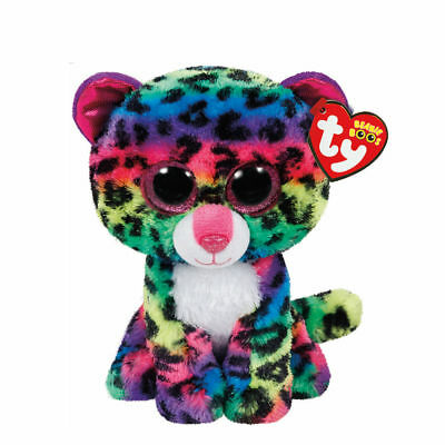 6e7a562c434 CLAIRE S GIRL S TY Beanie Boo Small Dotty the Leopard Soft Toy ...