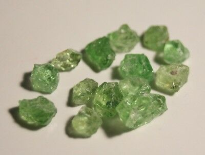 10.36ct Merelani Mint Grossular Garnet Rough Lot -Rare Lapidary / Specimen Rough