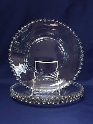 Imperial Glass CANDLEWICK Dinner Plate ~ Set of 4 (Lot A)