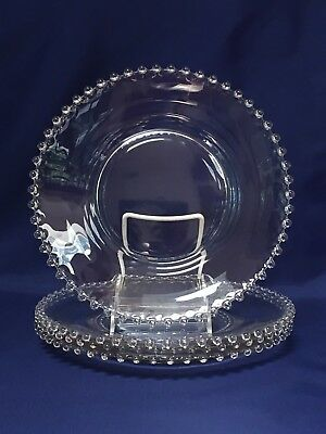 Imperial Glass CANDLEWICK Dinner Plate ~ Set of 4 (Lot B)