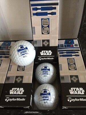 3 New Limited Edition Star Wars R2-D2 Taylormade Logo Golf Balls
