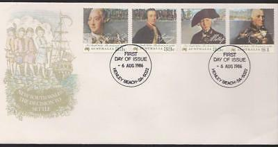 Australia 1986 First Day Cover FDC - New South Wales - The Decision to Settle
