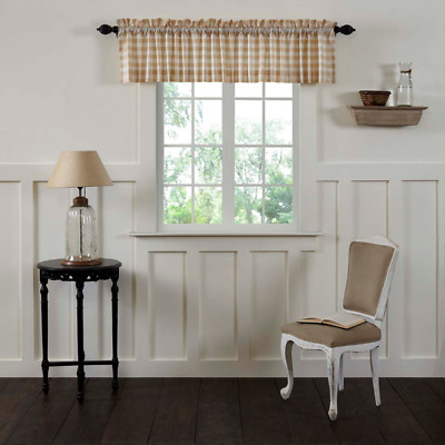 Annie Tan Buffalo Check Cotton Country Cottage Window Valance