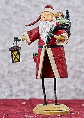 Lori Mitchell™ Old Father Christmas Red - Santa w Toys & Lantern Figurine 70690