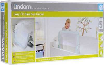 LINDAM EASY FIT BED GUARD Safety Toddler Bed Rail blue  brand new