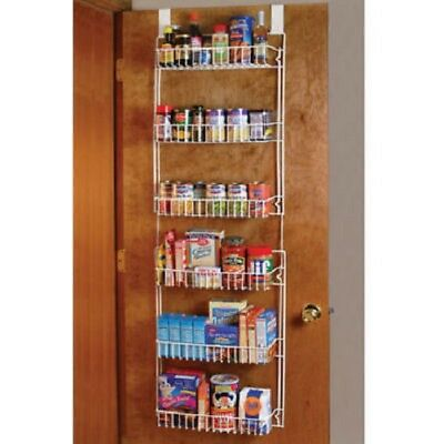 Beau Over The Door Storage Rack Kitchen Pantry Spice Organizer Closet Space Saver