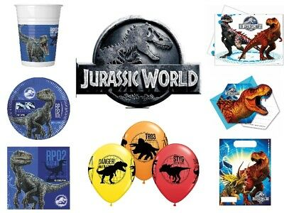 Jurassic Park World 2018 Kindergeburtstag SET Motto Party Dinosauria T-Rex