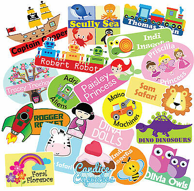 Personalised Kids School, Childcare Sticky Vinyl Name labels