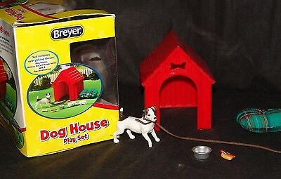 Breyer Dog House Play Set Jack Russell Terrier Red Dog House