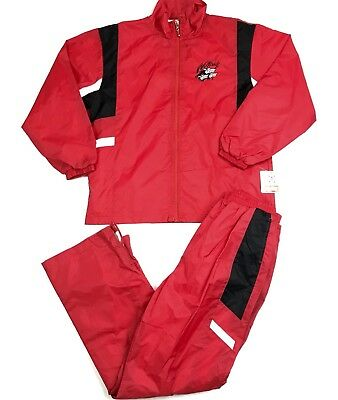 Vintage 80s 90s Track Suit NC State Wolf Pack Womens Large DEADSTOCK NEW W/TAGS