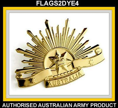 Australian Army ANZAC rising sun 6th badge + FREE Lest we forget sticker