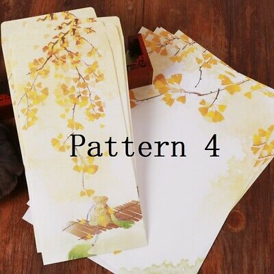 10X Writing Paper 5X Envelope Letter Set Print Stationery Chinese Vintage Gift